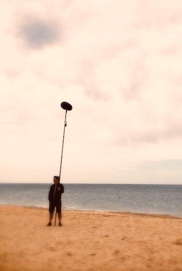 tournage avec micro à Sète